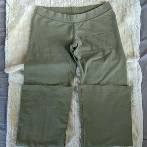 """Flared leggings w/""""Love"""" written on back sz medium"""